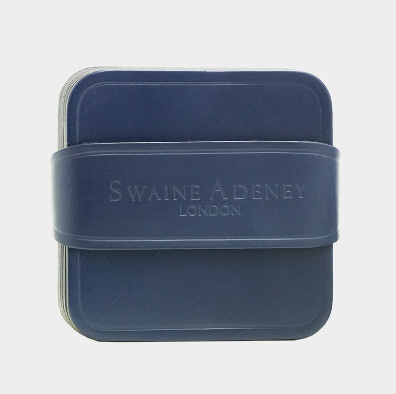 Swaine Adeney Brigg Square Coasters - Royal Blue