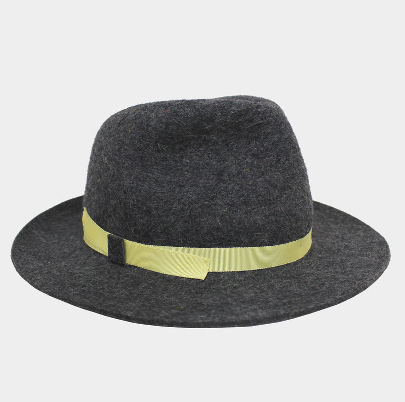 Winter Wool Trilby - Lemon Yellow