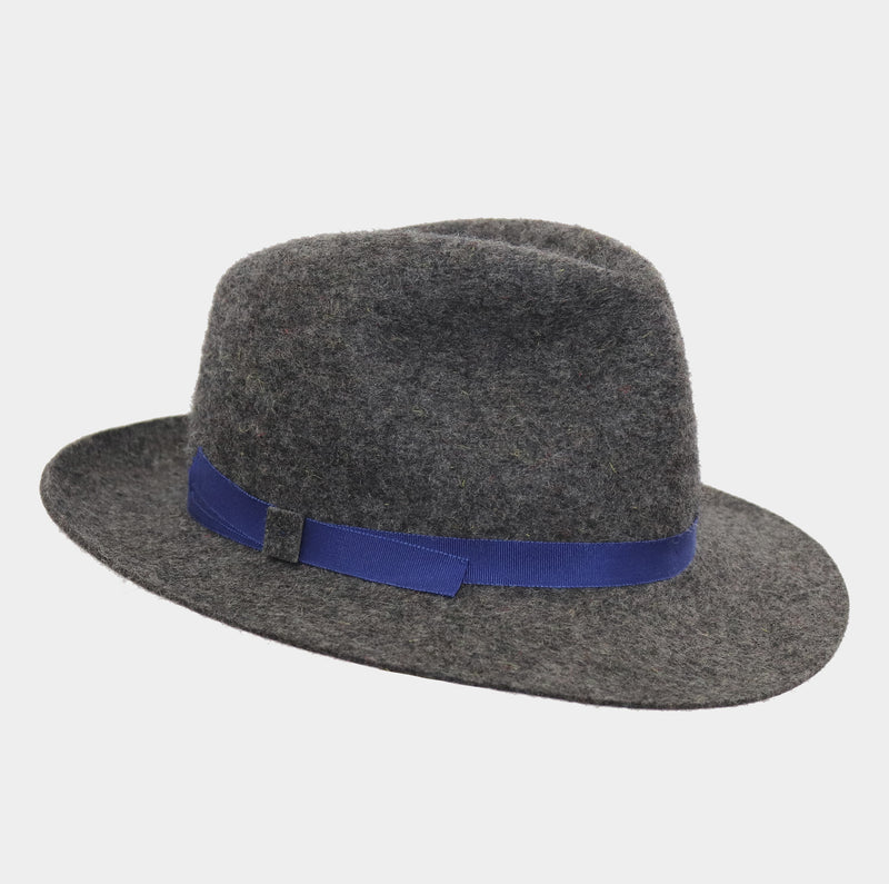 Winter Wool Trilby - Cobalt Blue