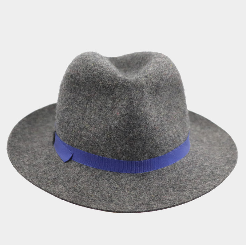 Mixed Wool Winter Trilby - Cobalt Blue