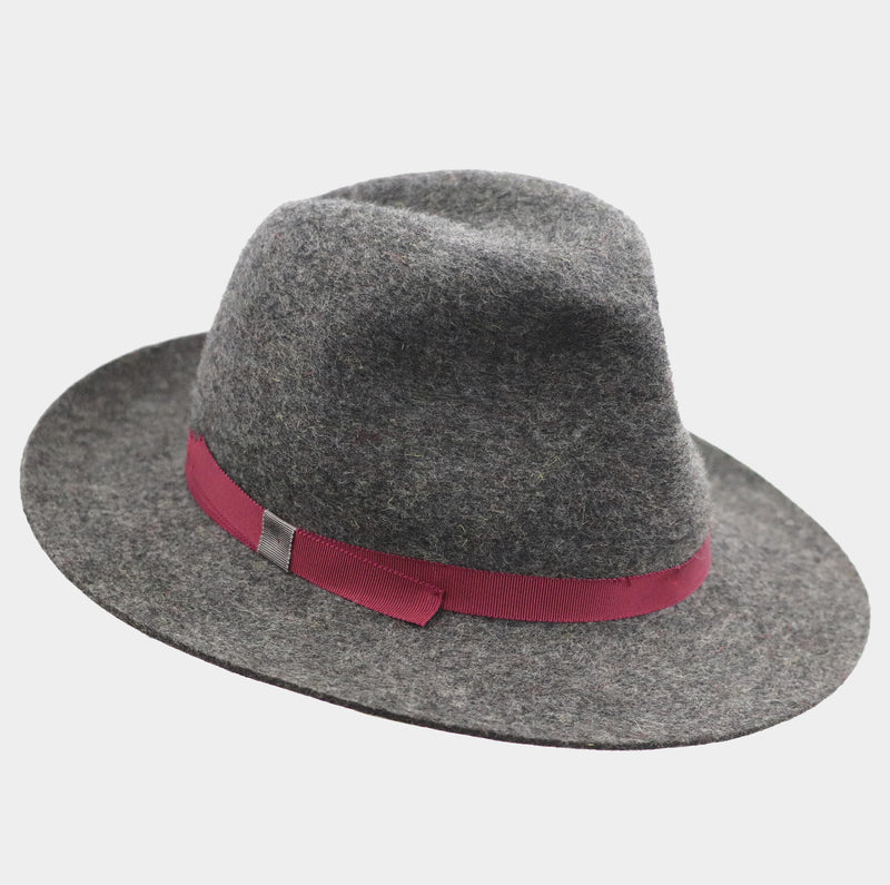 Winter Wool Trilby - Wine Red