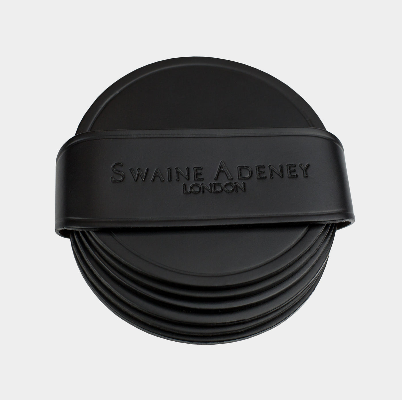 Swaine Adeney Brigg Round Coasters - Black