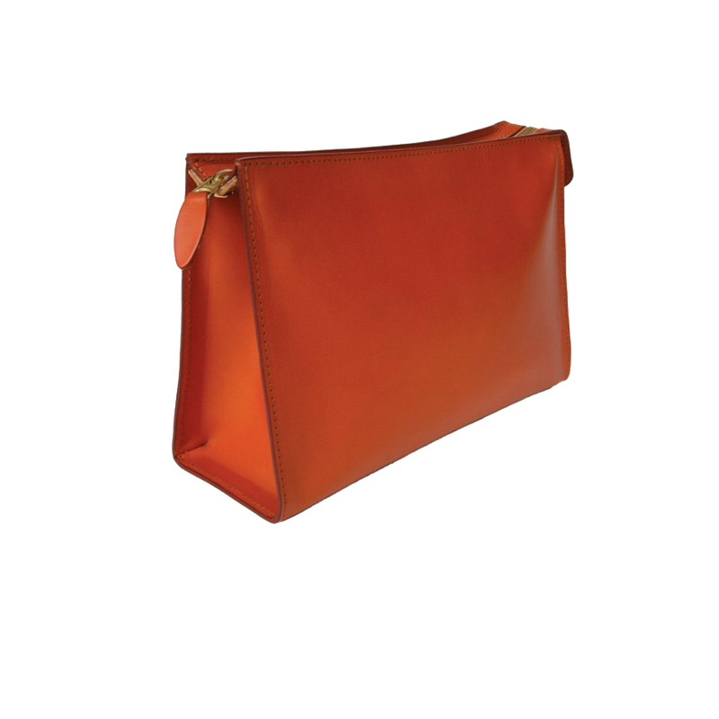 Wedge Wash Bag - Chestnut