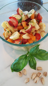 Not Your Grandma's Fruit Salad - Basil Fruit with Pistachio