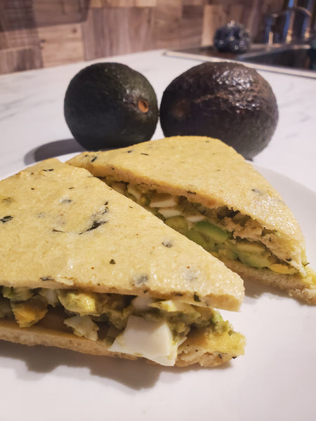 Avocado Egg Salad Sandwiches on Grain Free Bread