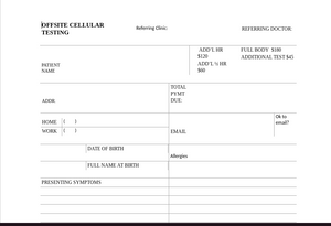 Offsite Cellular Testing Form