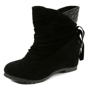 Weave Tassel Mid Calf Boots Warm Shoes