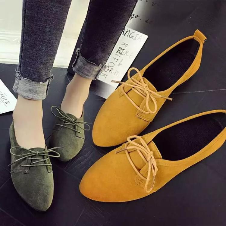bfb37c168a02 Spring new Korean style lace single shoe heel casual Women s shoes ...