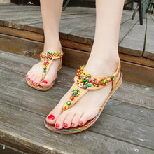 Load image into Gallery viewer, Flat Beaded Sandals