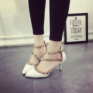 The Of Sandals Rivet Buckle Fine With High-Heeled Pervez Shoes
