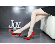 Load image into Gallery viewer, Vintage Peep Toe Stiletto Super High Heel Suede Ankle Strap Pumps