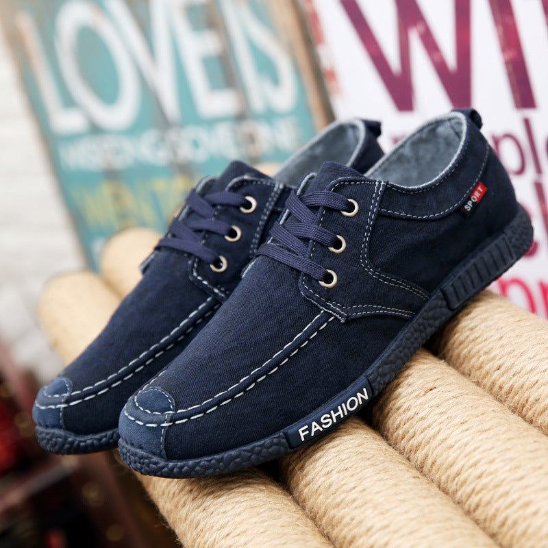 Men's Canvas Casual Solid Lace-Up Shoes