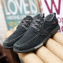 Load image into Gallery viewer, Men's Canvas Casual Solid Lace-Up Shoes