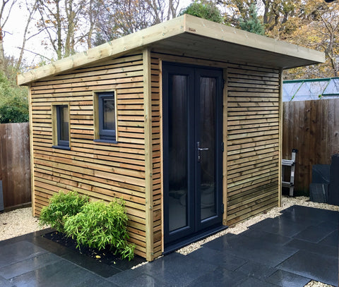 Bespoke shed with French doors