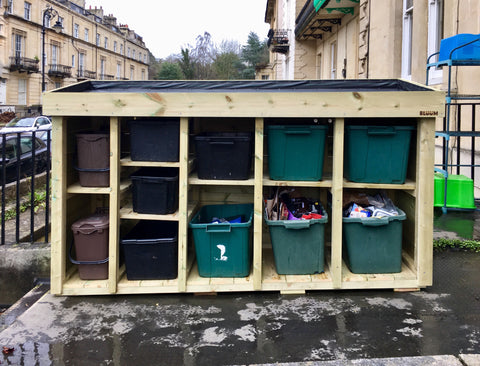 Bespoke recycling storage unit