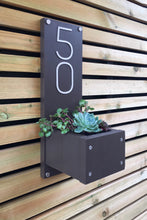 Contemporary House Sign - just add plants