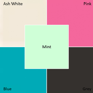 Choice of colours: ash white, pink, mint green, blue and grey house number signs