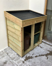 Recycling and food waste storage garden tidy