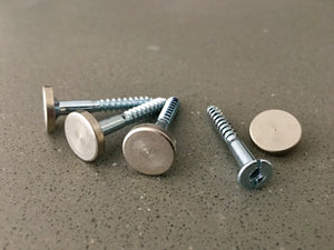 Capped screws for a sleek modern contemporary finish