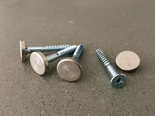 Brushed cap fixings for a sleek and modern look by your front door
