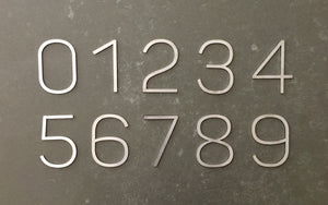 Stainless steel contemporary 90mm house numbers