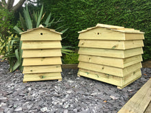Small and large size compost storage bin for your garden, in the style of a beehive
