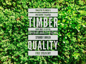 High quality timber and fixings