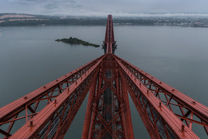 Standing on top of the Forth Bridge