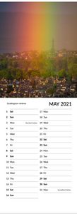 Real Edinburgh 2021 Skinny Calendar