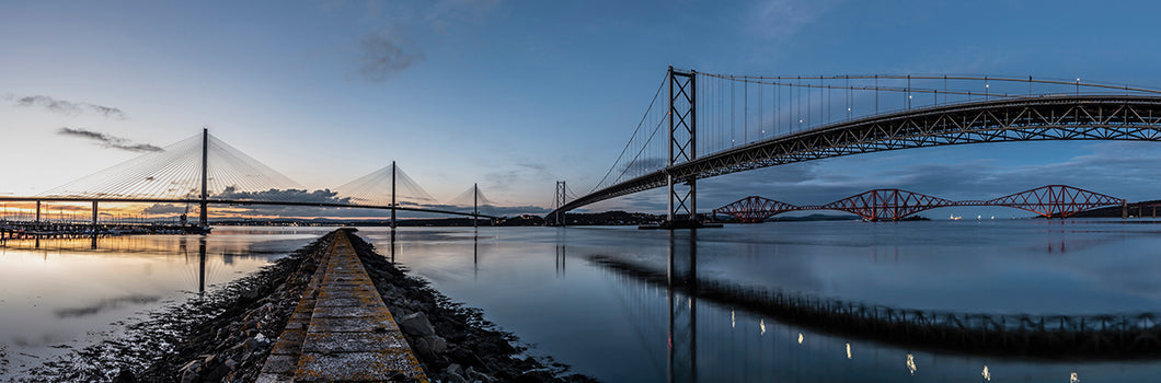 3 Bridges over the Forth Sunset to Twilight