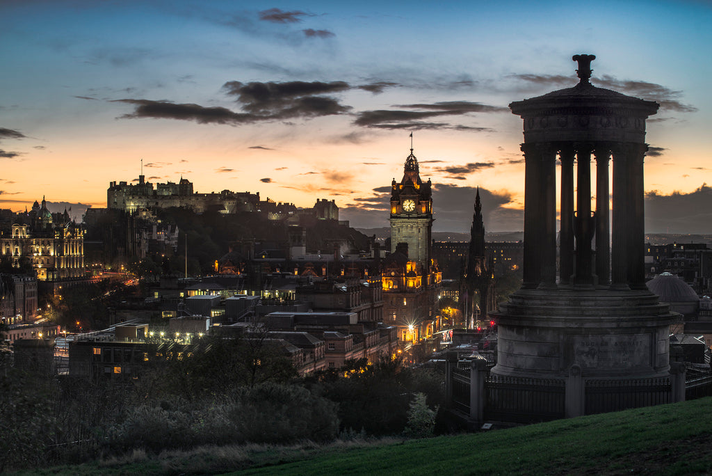 Calton Hill Sunset 4 November 2013
