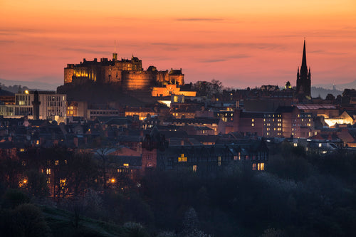 Castle and Hub Sunset April 2015