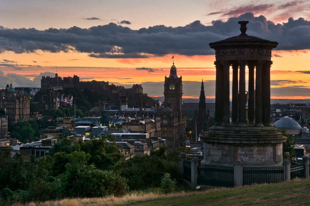 Classic Edinburgh Sunset 9 September 2013