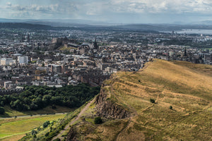 Edinburgh from the top of Arthurs Seat