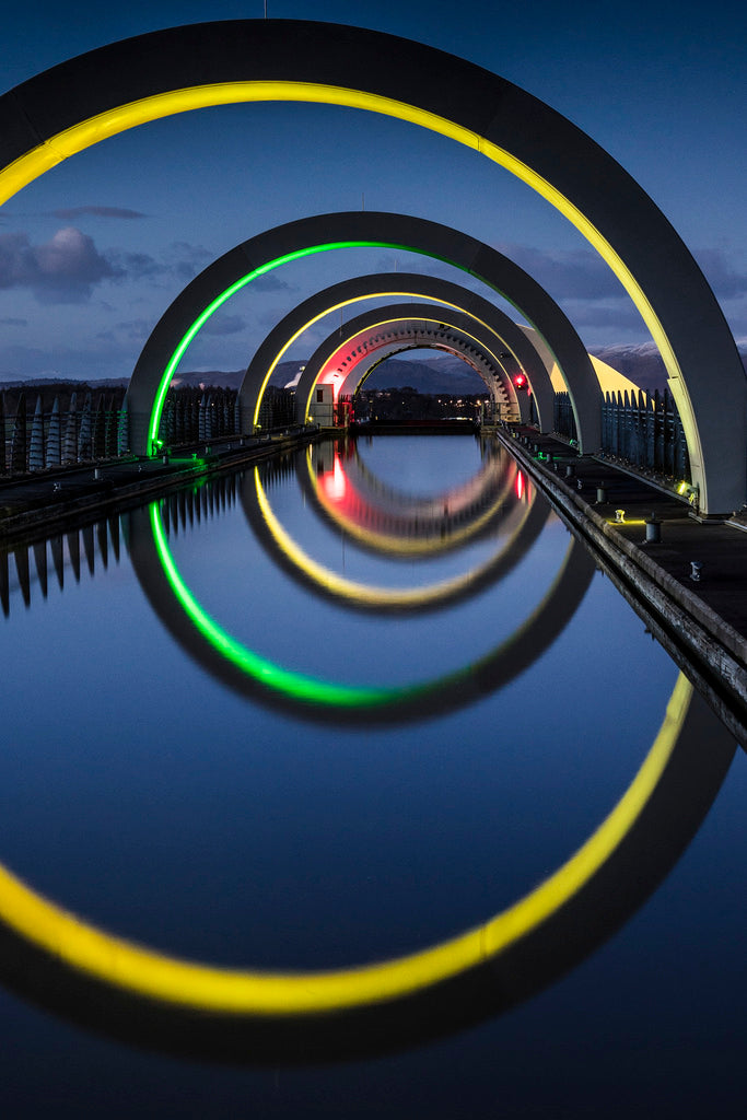 Falkirk Wheel at Night Jan 2015