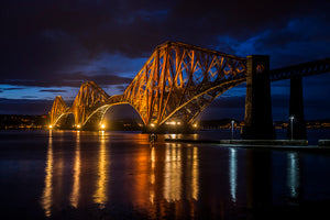Forth Bridge Rainy Twilight