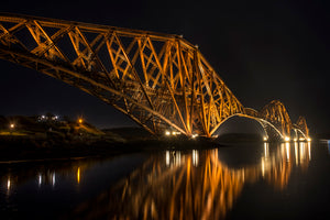 Forth Bridge at Night from the North