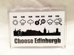 Choose Edinburgh Weather Fridge Magnet