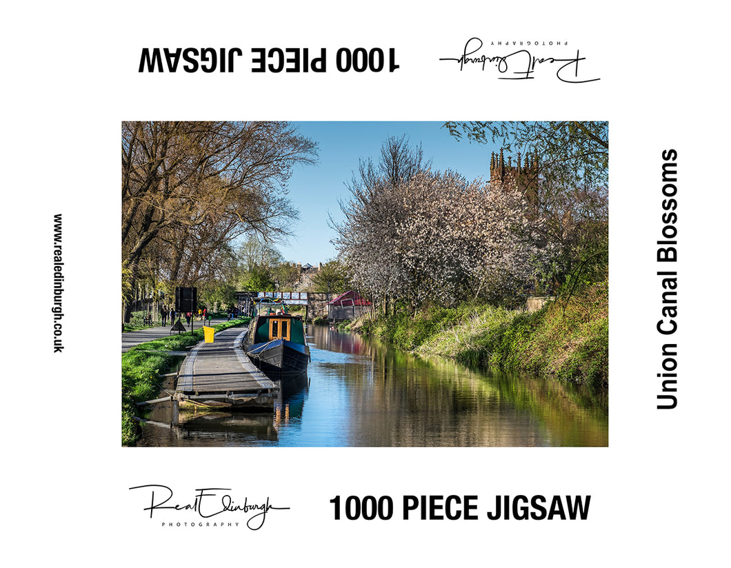 Union Canal Blossoms 1000 piece jigsaw