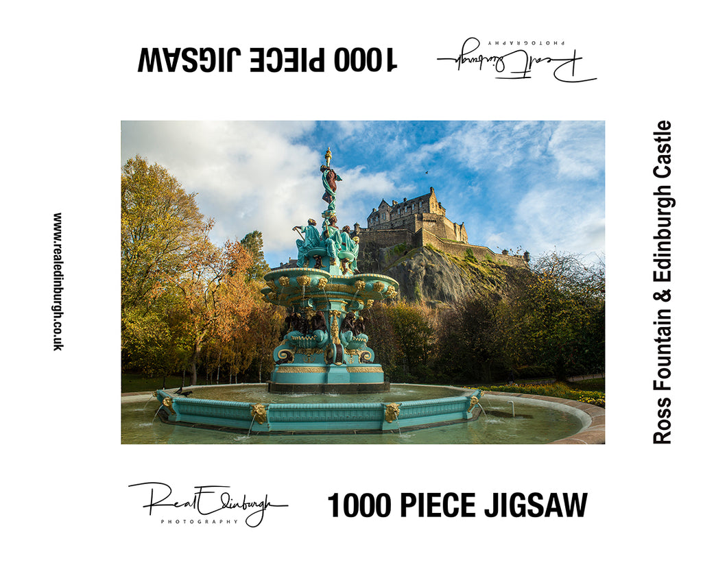 Ross Fountain & Edinburgh Castle 1000 piece jigsaw