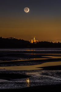 Moonset over Cramond