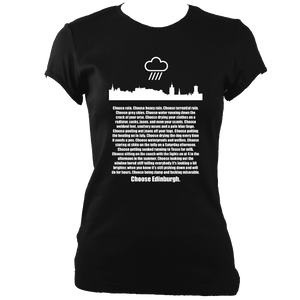 Choose Edinburgh Ladies Fitted T-shirt