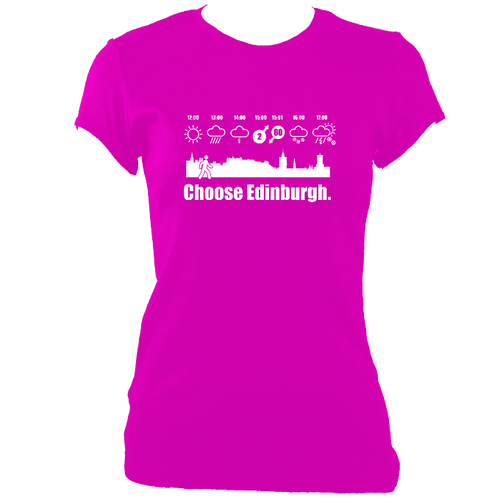 Choose Edinburgh Weather Ladies Fitted t-shirt