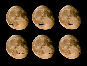 Plane in front of Moon whole sequence
