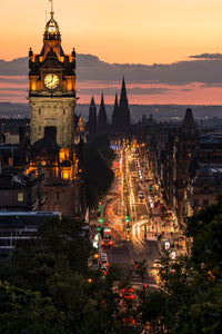Princes Street Sunset Sept 2015