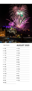 Real Edinburgh 2020 Skinny Calendar