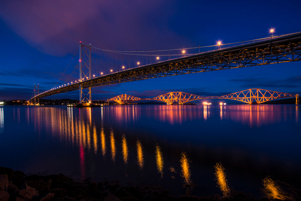 Twilight Bridges from Port Edgar 10 Oct 2014