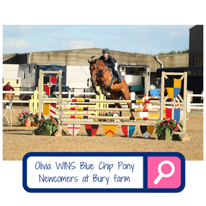Olivia Sponer WINS Blue Chip Pony Newcomers second round at Bury Farm