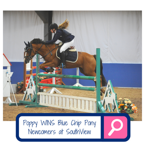 Poppy Deakin wins Blue Chip Pony Newcomers second round at SouthView