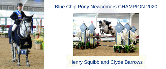 Henry Squibb & Clyde Barrows are victorious in the Blue Chip Pony Newcomers Championship